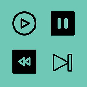 FileMaker Playback Icon Set logo