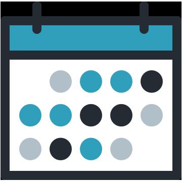 Carte thermique du calendrier logo