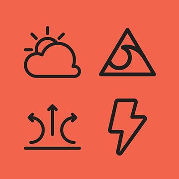 Weather FileMaker Icon Set logo