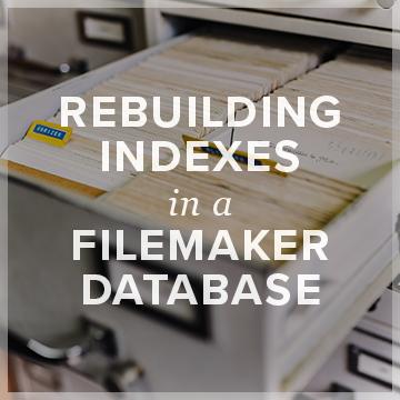 Rebuilding FileMaker Indexes logo